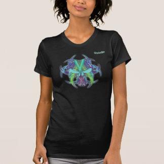 Neon-Totenkopf T-Shirt