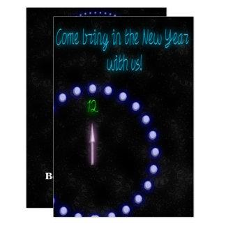 Neoneinladung des neuen Jahres Karte