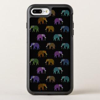 Neonelefant-Muster OtterBox Symmetry iPhone 7 Plus Hülle