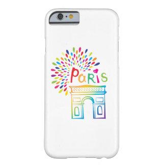 Neonentwurf Paris Frankreich | der Arc de Triomphe Barely There iPhone 6 Hülle