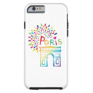 Neonentwurf Paris Frankreich | der Arc de Triomphe Tough iPhone 6 Hülle