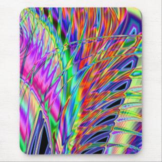 Neonfedern Mousepad