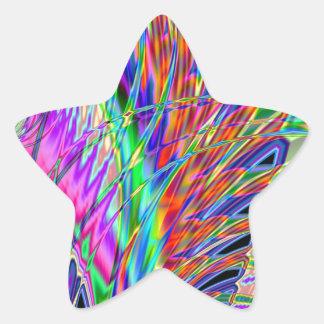 Neonfedern Stern-Aufkleber