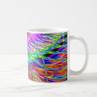 Neonfedern Tasse