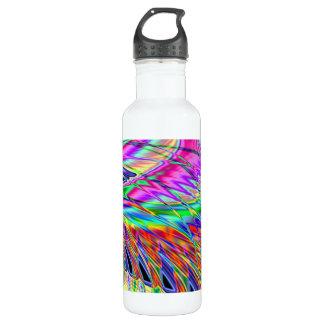 Neonfedern Trinkflasche