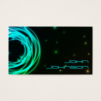 Neonlicht-Kreis-Visitenkarte Visitenkarte