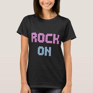Neonlicht-Rock auf Musikt-shirt T-Shirt