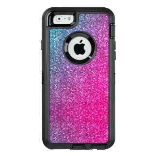 Neonrosa-gedämpftes blaues helles mit Blumenbuntes OtterBox iPhone 6/6s Hülle
