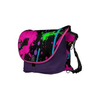 Neonspritzen-Rickshaw-Bote-Tasche Kuriertasche