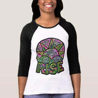 Neonsun-Aufstieg ~ emporhebende Mitteilungs-Grafik T-Shirt