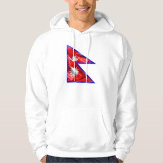 Nepal-Flagge Hoodie