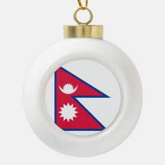 Nepal-Flagge Keramik Kugel-Ornament
