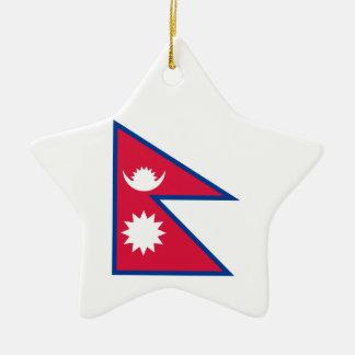 Nepal-Flagge Keramik Ornament
