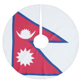 Nepal-Flagge Polyester Weihnachtsbaumdecke