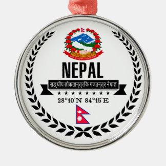 Nepal Silbernes Ornament