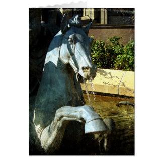 Neptun Pferd, Piazza-Brunnen-Detail 2, Geburtstag Karte