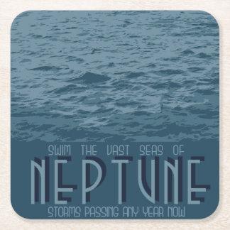 Neptun-Raum-Untersetzer Rechteckiger Pappuntersetzer