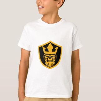 Neptun-Schädel-Fronten-Schild T-Shirt