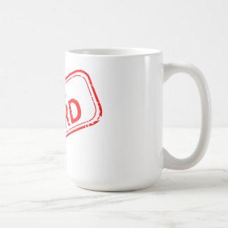 Nerd Gummi-Briefmarke Rot 100% auf Weiß Kaffeetasse