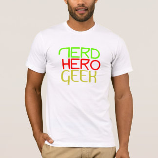 Nerd, hero, geek, Green, T-Shirt