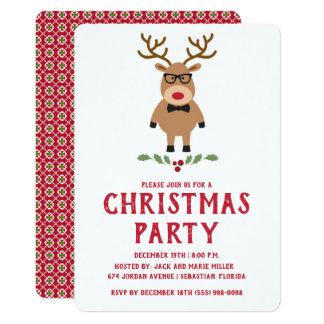 Nerdy Ren-WeihnachtsParty Einladung