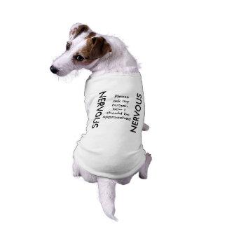NERVÖSER Hundebehälter T-Shirt
