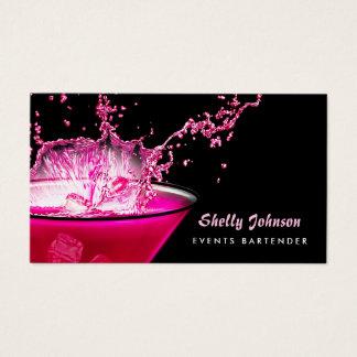 Nervöser schwarzer und rosa visitenkarte