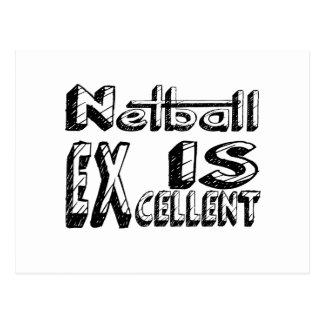 Netball ist ausgezeichnet postkarte