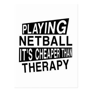 NETBALL ist es billiger als Therapie Postkarte