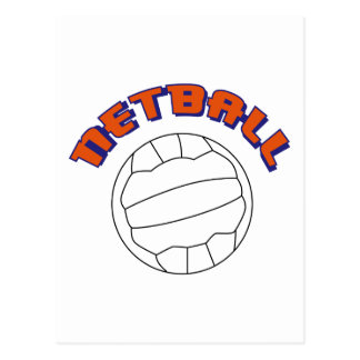 Netball Postkarte
