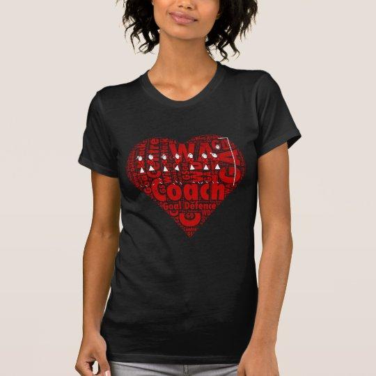 Netball-Zug-Herz-Entwurf T-Shirt