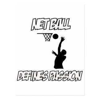 Netballentwürfe Postkarte