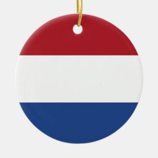Netherland Holland patriotisches Muster Rundes Keramik Ornament