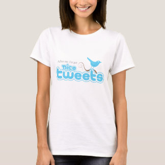 Nett tweetet kurze Hülsen-Damen T T-Shirt