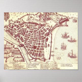 Nette Frankreich-Karte Poster