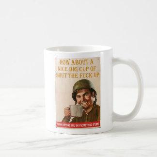 Nette große Schale STFU Kaffeetasse