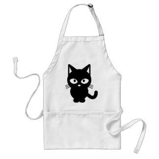 Nette schwarze Katze Schürze