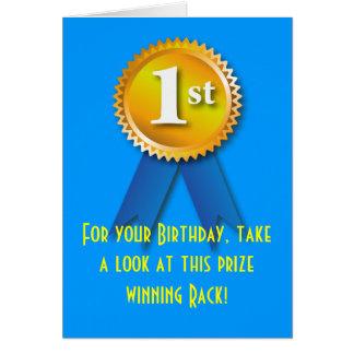 Nette Überraschung des Gestell-Geburtstags-2 Karte