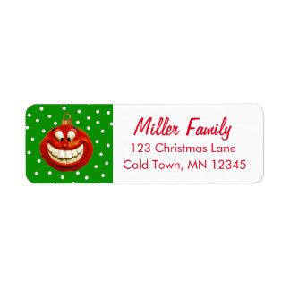 Nette Weihnachtsverzierung Rücksendeetiketten