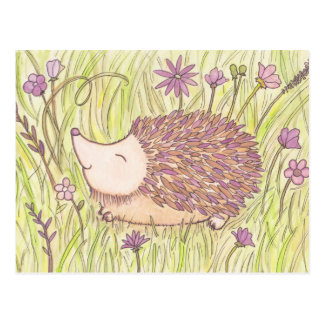 Netter Frühjahr-Igel Postkarte