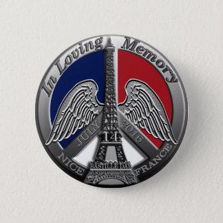 Nettes Frankreich-Bastille-Denkmal 2016 Runder Button 5,7 Cm