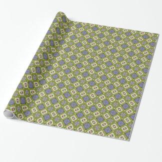 Nettes grünes und blaues Motiv Geschenkpapier
