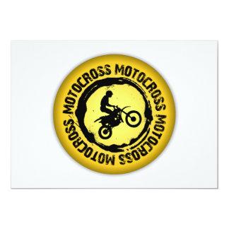 Nettes Motocross-Siegel 1 Karte
