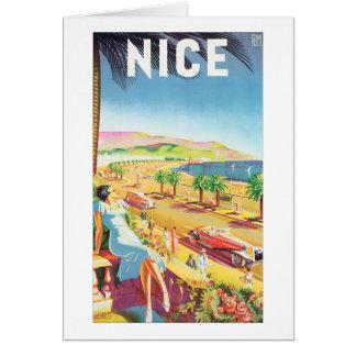 Nettes Vintages Reise-Plakat Karte