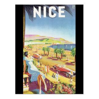 Nettes Vintages Reise-Plakat Postkarte