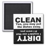 Nettoyez l'aimant sale de lave-vaisselle