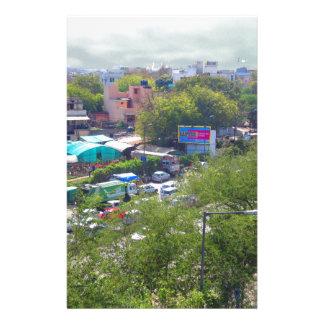 Neu-Delhi Indien Verkehrsansichten von den Briefpapier