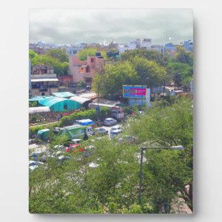Neu-Delhi Indien Verkehrsansichten von den Fotoplatte