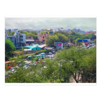 Neu-Delhi Indien Verkehrsansichten von den Postkarte