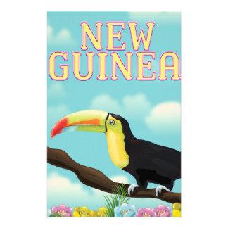 Neu-Guinea Toucan Reiseplakat Briefpapier